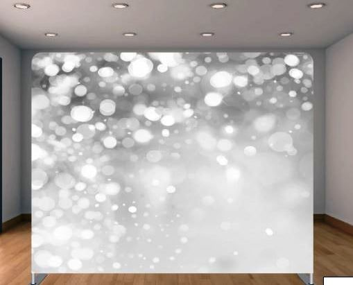 White & Silver Bubbles Backdrop