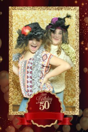50th, birthday party, magic mirror fun, props